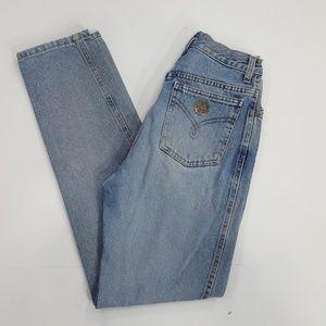 "Moschino Italy high waisted jeans 24"" Peace pocket"